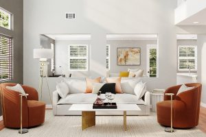 Beautifully styled lounge room